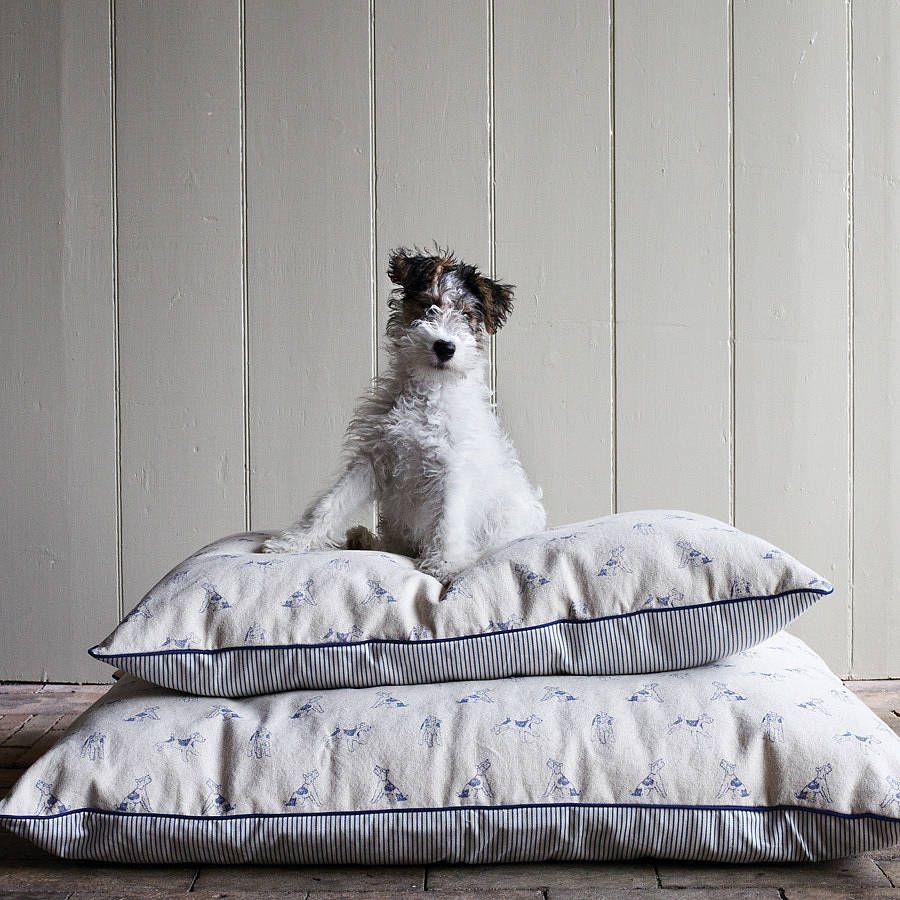 bertie print dog bed by plum & ashby notonthehighstreet