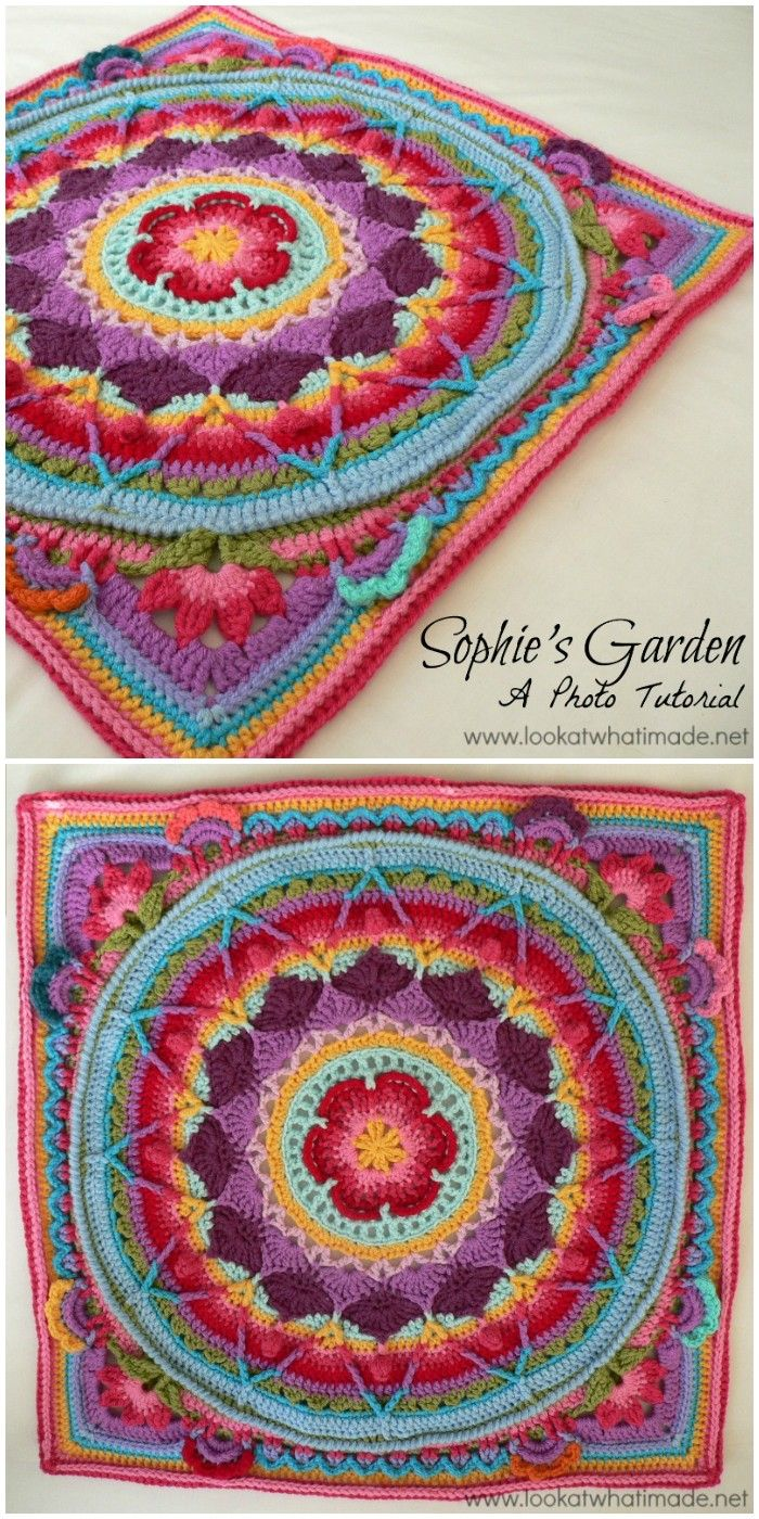 30 Crochet Mandala Patterns - Free Crochet Patterns #crochetmandalapattern