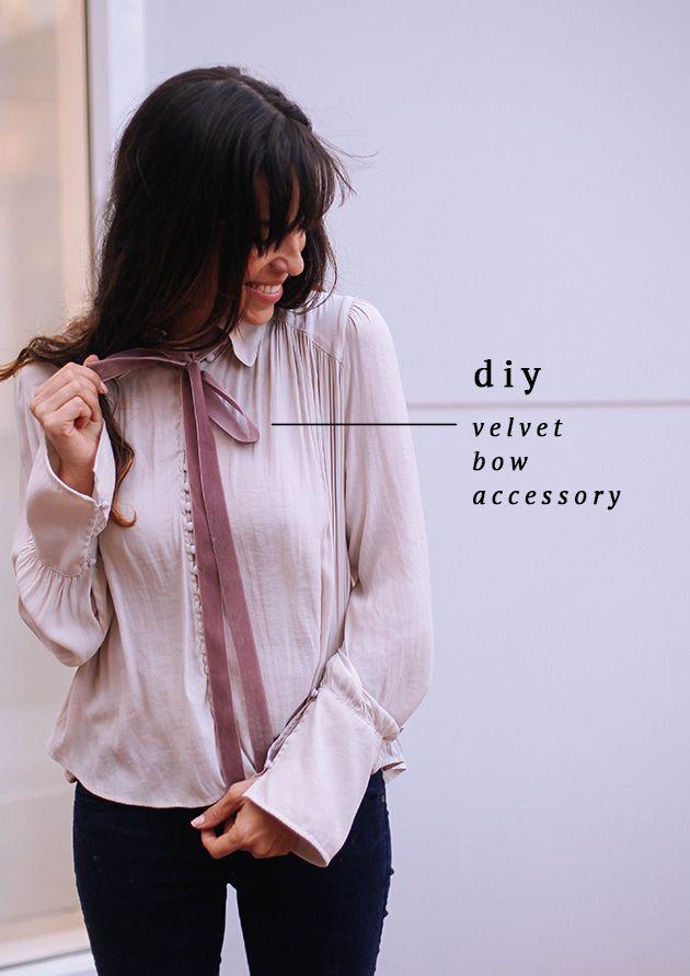 DIY Velvet Bow accessory