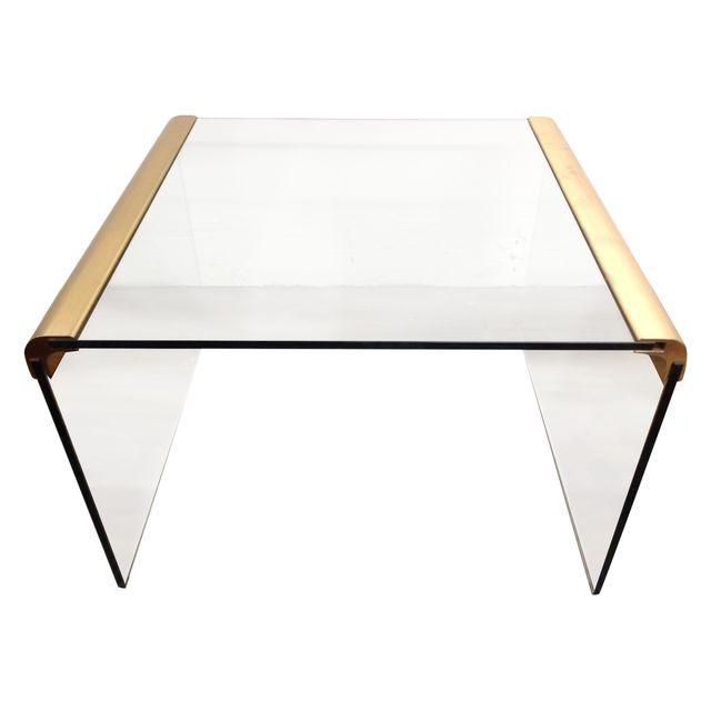 Image Of Leon Rosen Mid Century Waterfall Cocktail Table