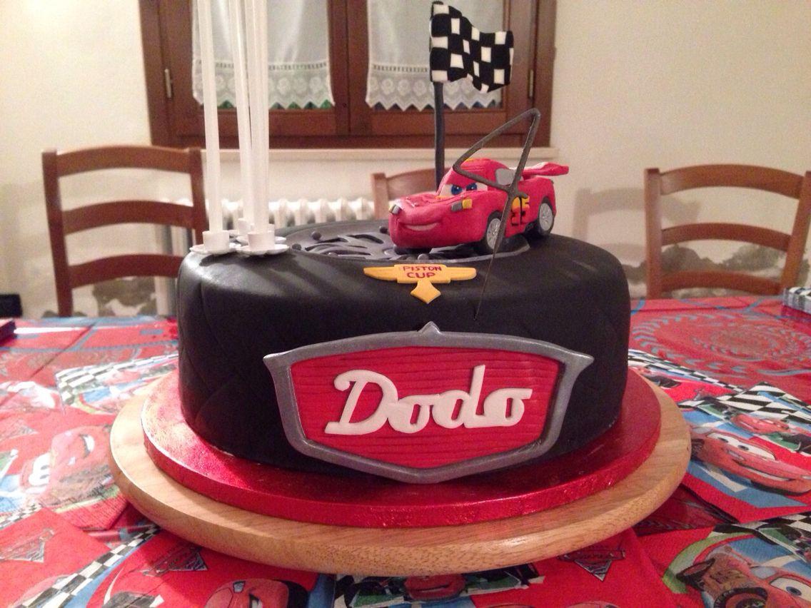 Saetta Mcqueen Cake Happy Birthday Dodo Mcqueen Cake Cake Cake Design