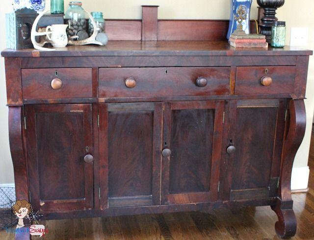 Estate Sale Find Antique Empire Sideboard Empire Furniture