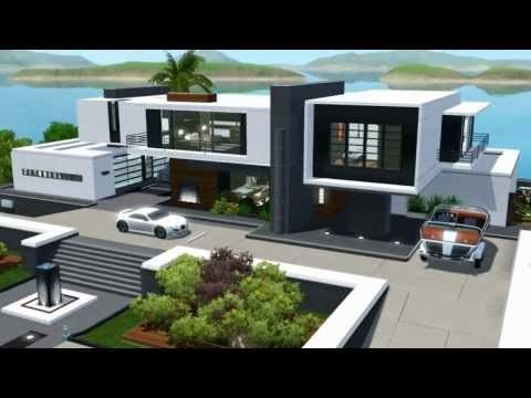 Seaside Modern House Sims House Plans Sims House Design Sims 4 House Design