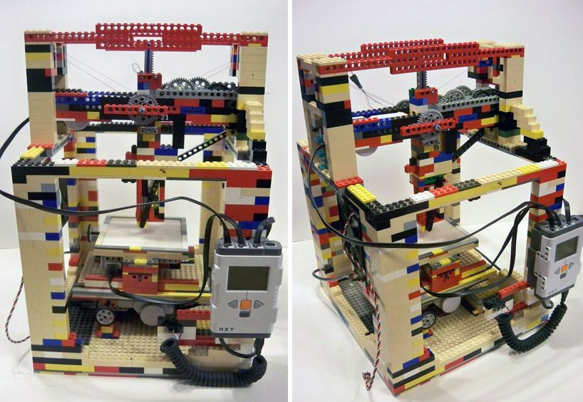legobot 3D printer made entirely out of LEGO...trash turned into ...