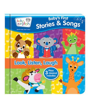 Another great find on #zulily! Baby Einstein: Baby's First Stories & Songs Board Book #zulilyfinds