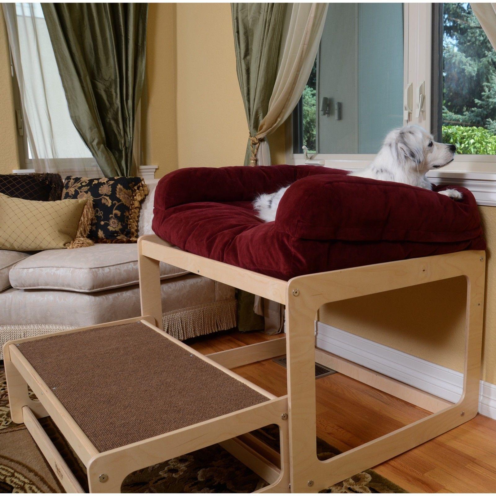 Dog Bed Window Seat Pet Sofa Cat Perch Pillow Bolster Sill Cushion