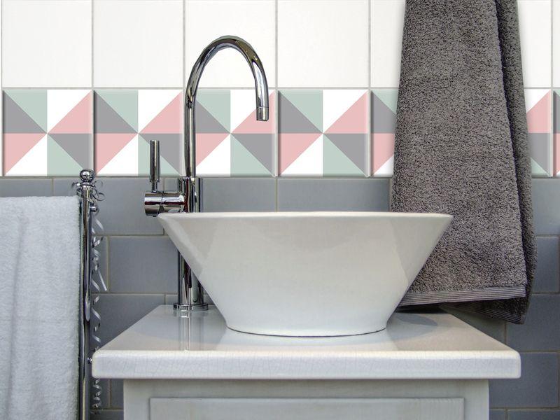 Fliesenaufkleber  - deko ideen badezimmer wandakzente