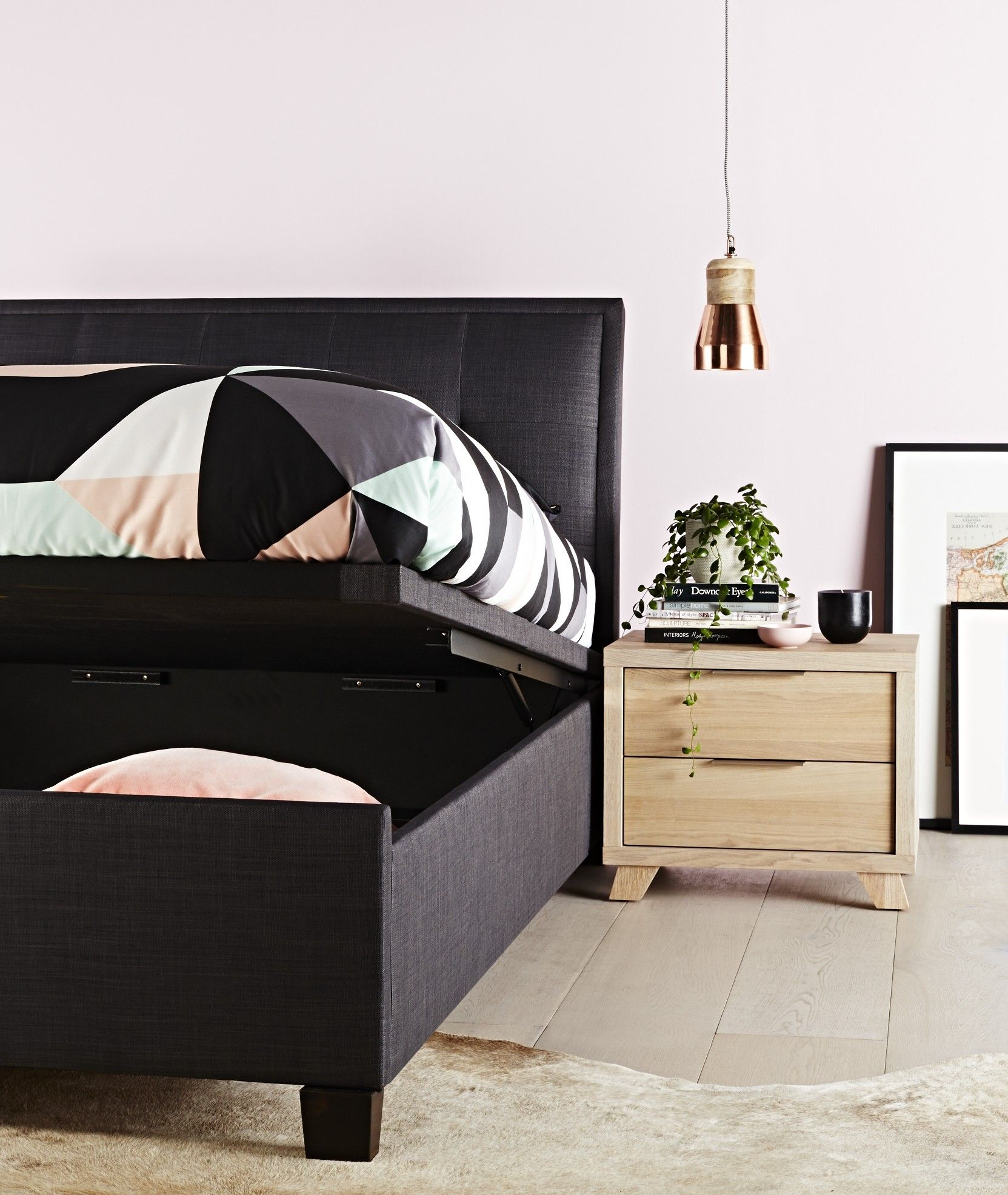 Bed furniture with drawers - Accent Bedroom Furniture Drawer Base The Accent Is A Modern Stylish Centrepiece Bed Frame With A Functional And Space Saving Drawer Base Fin