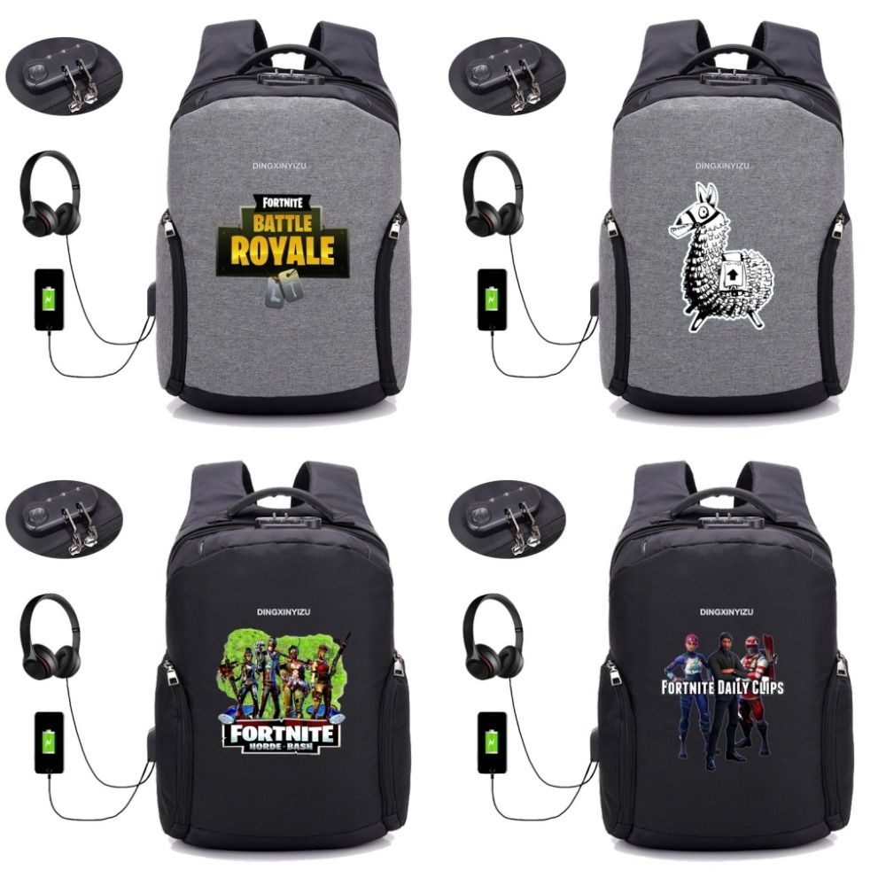 c952bb926f4b Fortnite Battle Royale backpack USB Charging Anti theft Multifunction men  women Laptop bag Backpack student Schoolbag   Price   50.13   FREE Shipping  ...