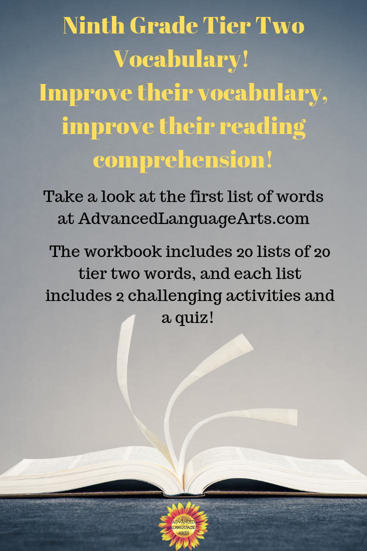 9th Grade Tier Two Vocabulary List 1 Advanced Language Arts Vocabulary Workbooks Vocabulary Vocabulary Activities [ 1102 x 735 Pixel ]