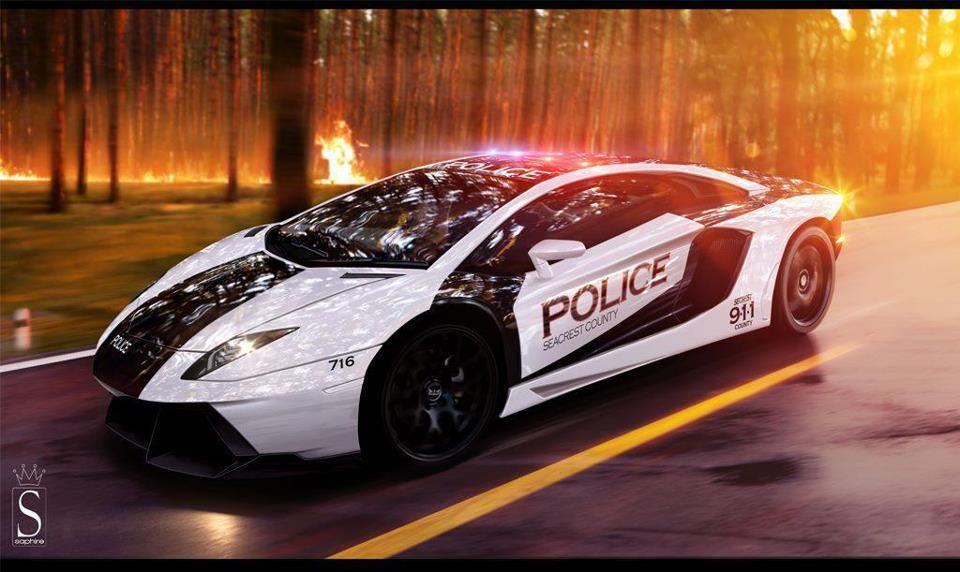 Lamborghini Aventador Police Car -- Curated by Desert City Security Inc. | 2277 Turnberry Place, Kamloops, Bc, V1S 1S8 | 250-828-8778