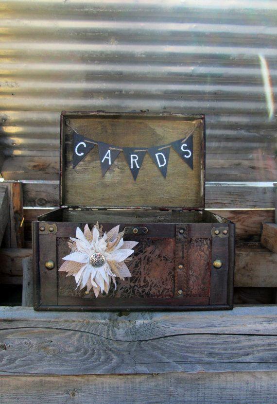 Rustic Trunk Card Holder