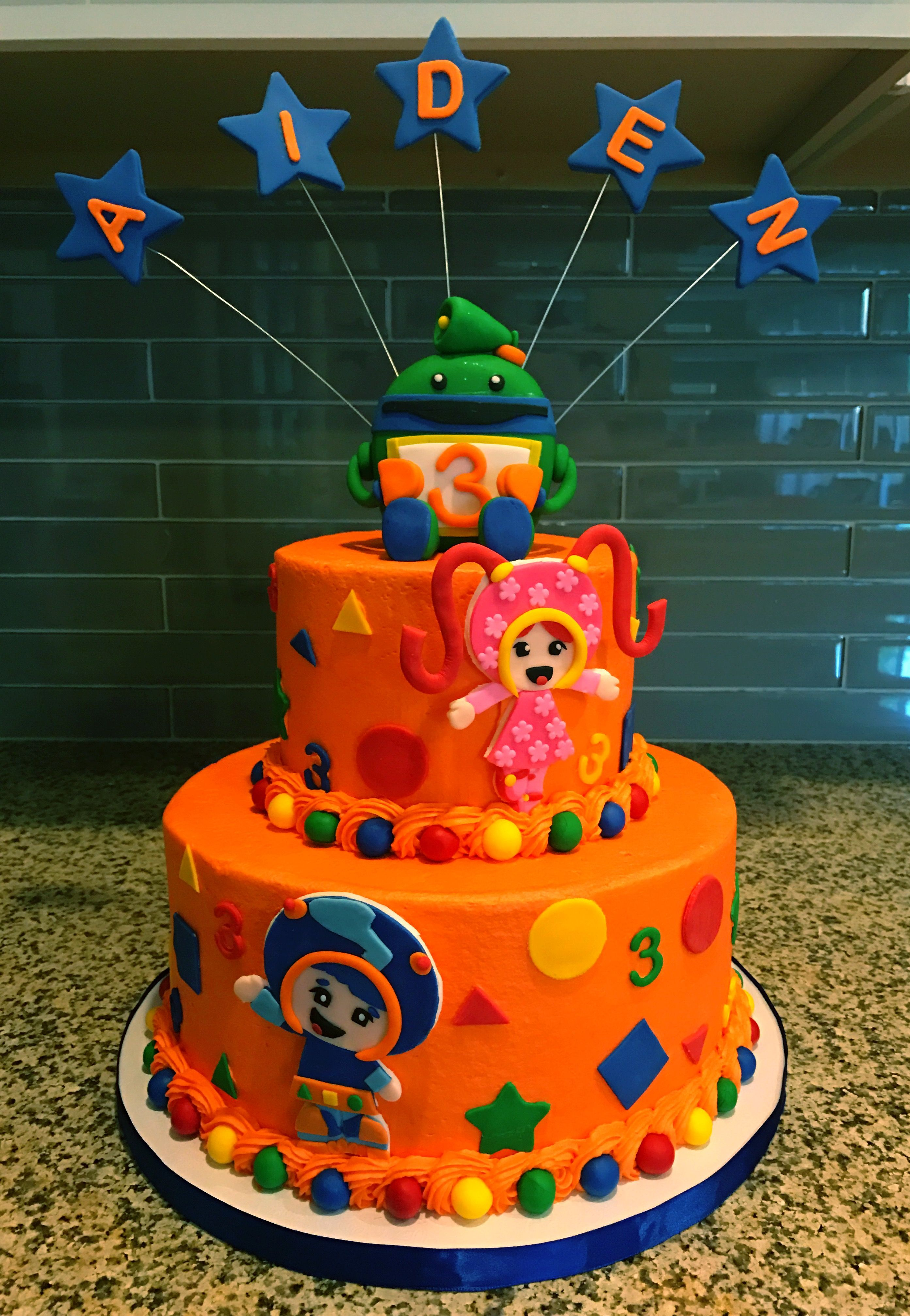 Team Umizoomi Birthday Cake With Fondant Milli Geo And Bot