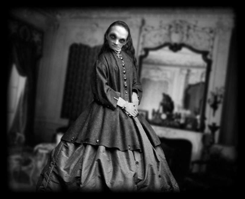 The ghost of a woman who died of cholera during the last months of the war, while the Yankees ...