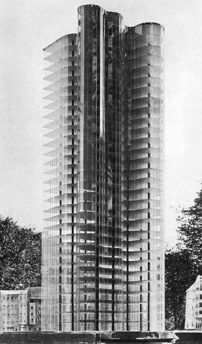 Hochhaus An Der Friedrichstraße Modell Nach Entwurf Von Ludwig Mies