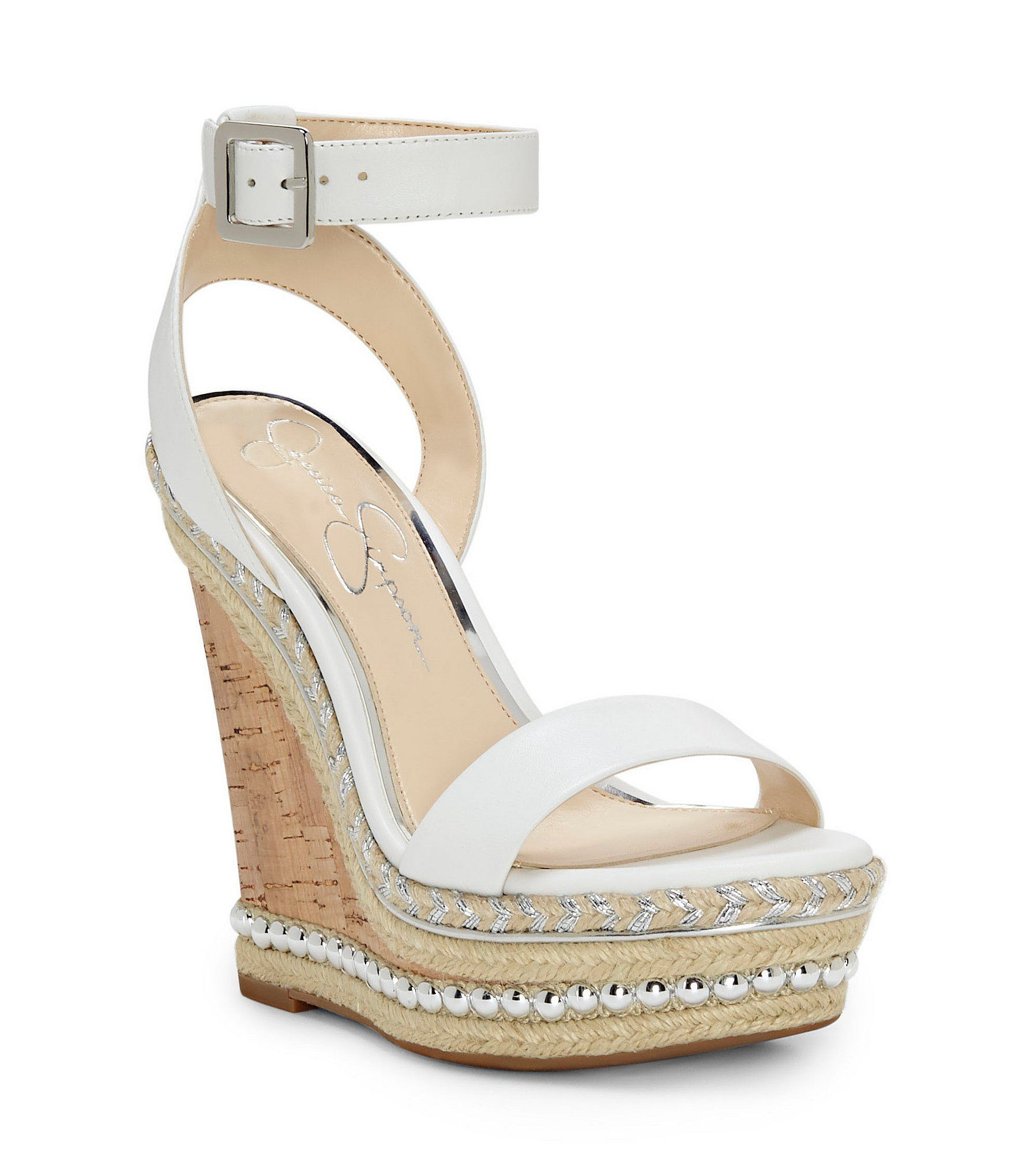 51d70a4ae3 Jessica Simpson Avey Stud and Braided Detail Platform Wedge Sandals  #Dillards
