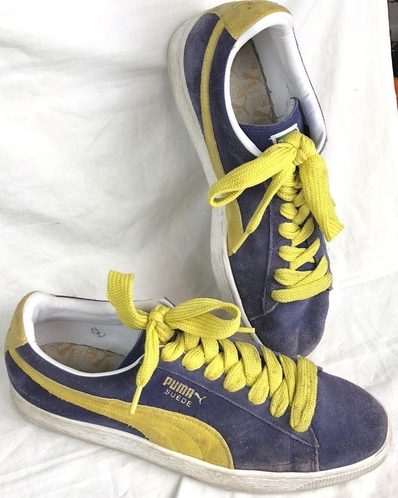 Rare colorway of purple upper wyellow trim and original