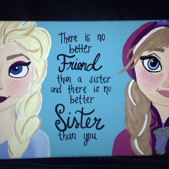 Frozen sister decor by craftsbydaniellelee on Etsy, $45.00