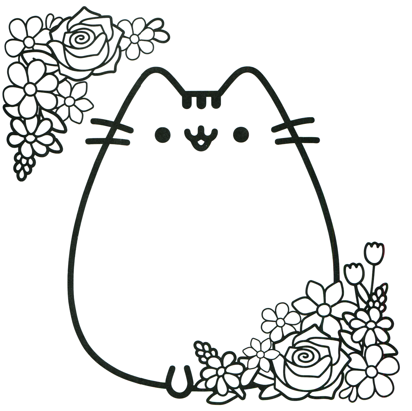 Pusheen coloring book pusheen pusheen the cat pusheen for Cat coloring pages for toddlers