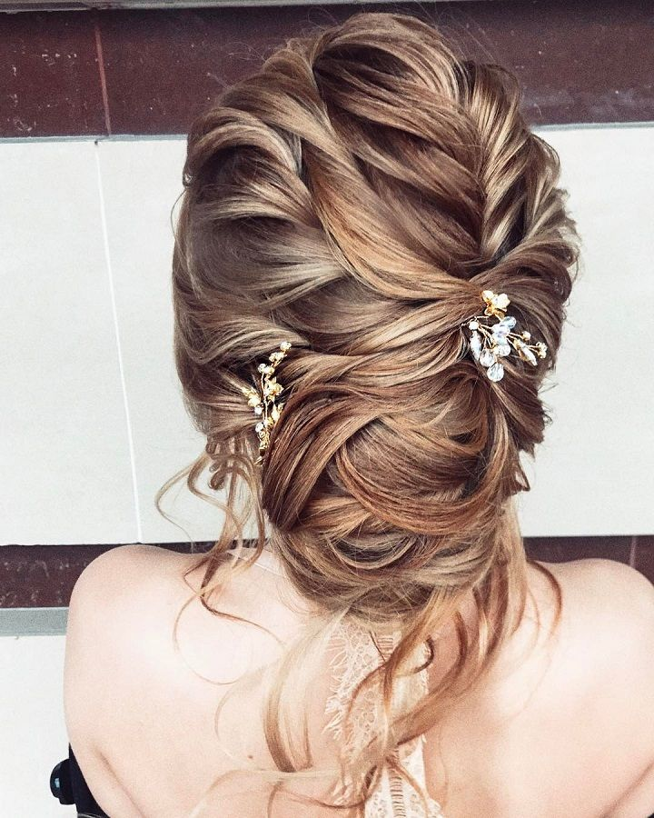 Braided Wedding Hairstyle with updo #weddinghair #braidedhairstyle #braids #updobraided #hairstyle #upstyle