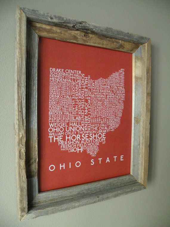Osu Word Map I Know A Few Buckeyes That Would Love This Buckeye Nation Ohio State