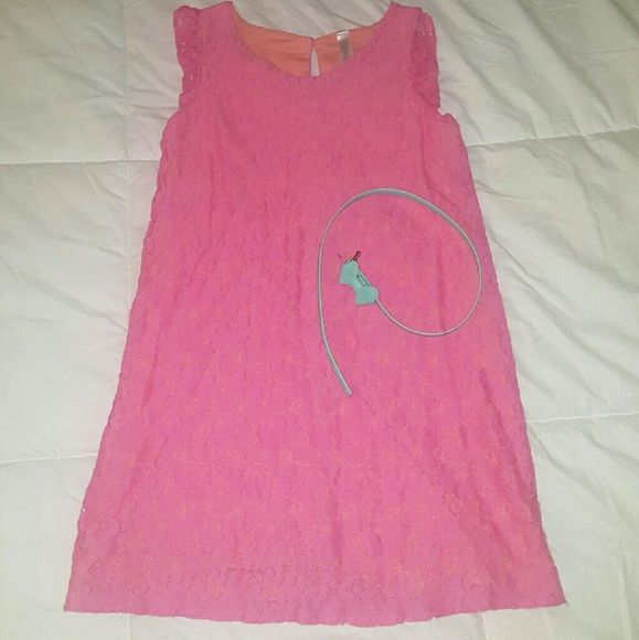 Girls dress with belt Pink with peach linning Cherokee Dresses