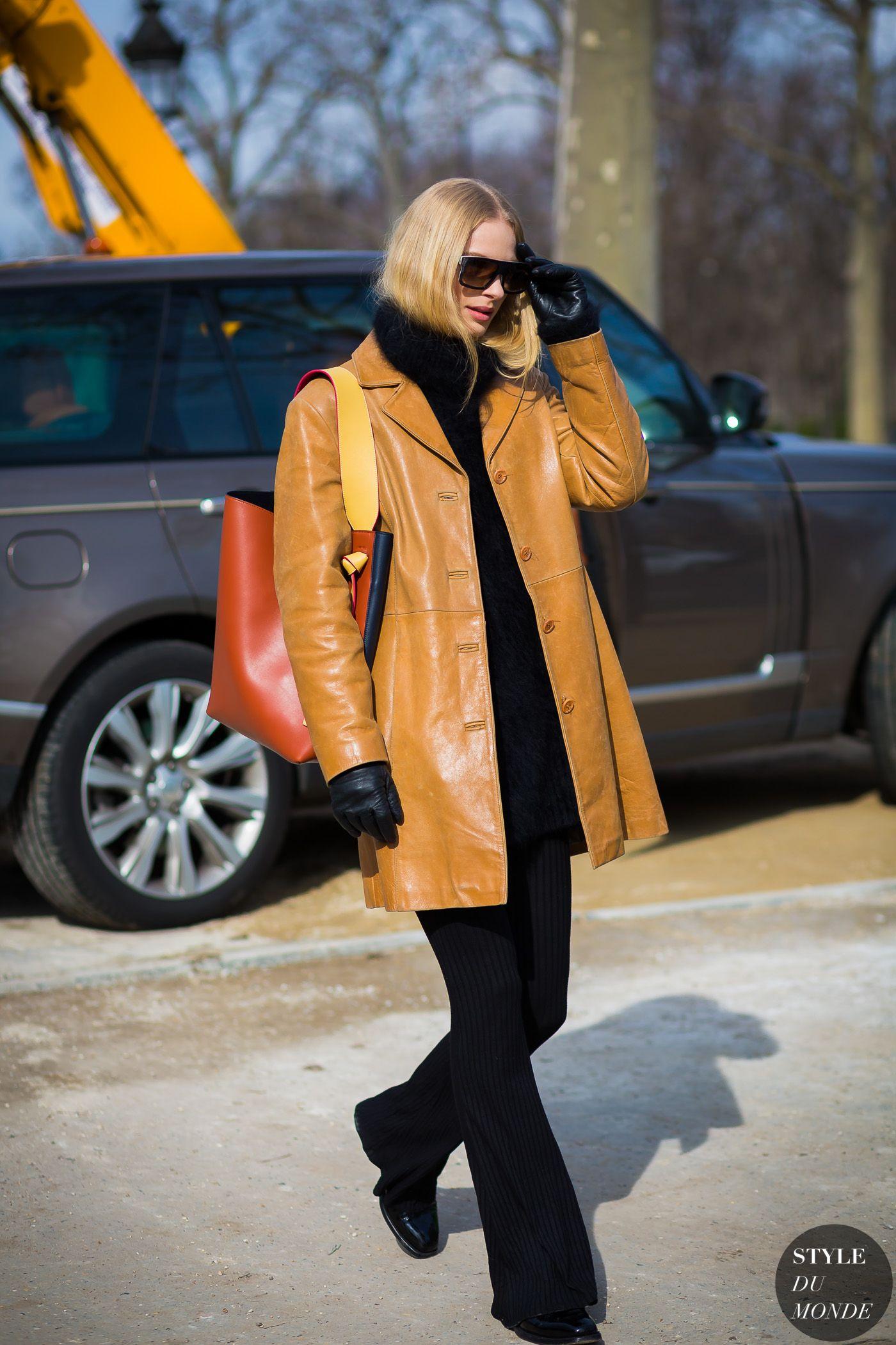 Frederikke Sofie Falbe-Hansen Street Style Street Fashion Streetsnaps by STYLEDUMONDE Street Style Fashion Photography