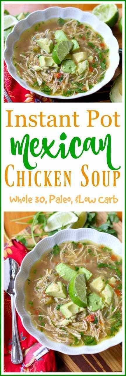Mexican Chicken Soup Instant Pot Spicy Chicken Soup