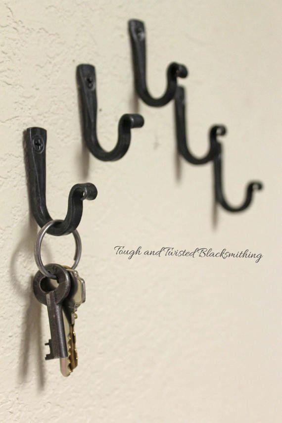 Small Iron Hooks Key Hooks Black Metal Hooks Steel Hooks