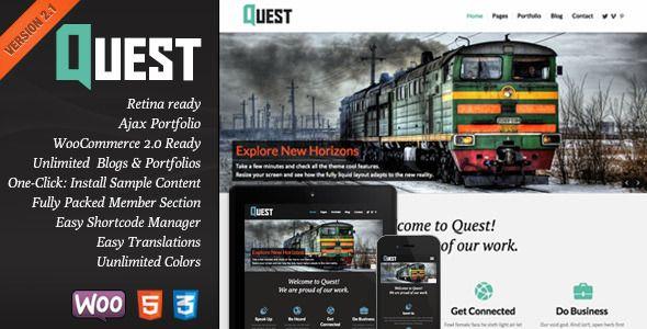 Quest - All Purpose Wordpress Theme - WordPress  #wordpress #theme #website #template #responsive #design #webdesign #flat #flatdesign #portfolio