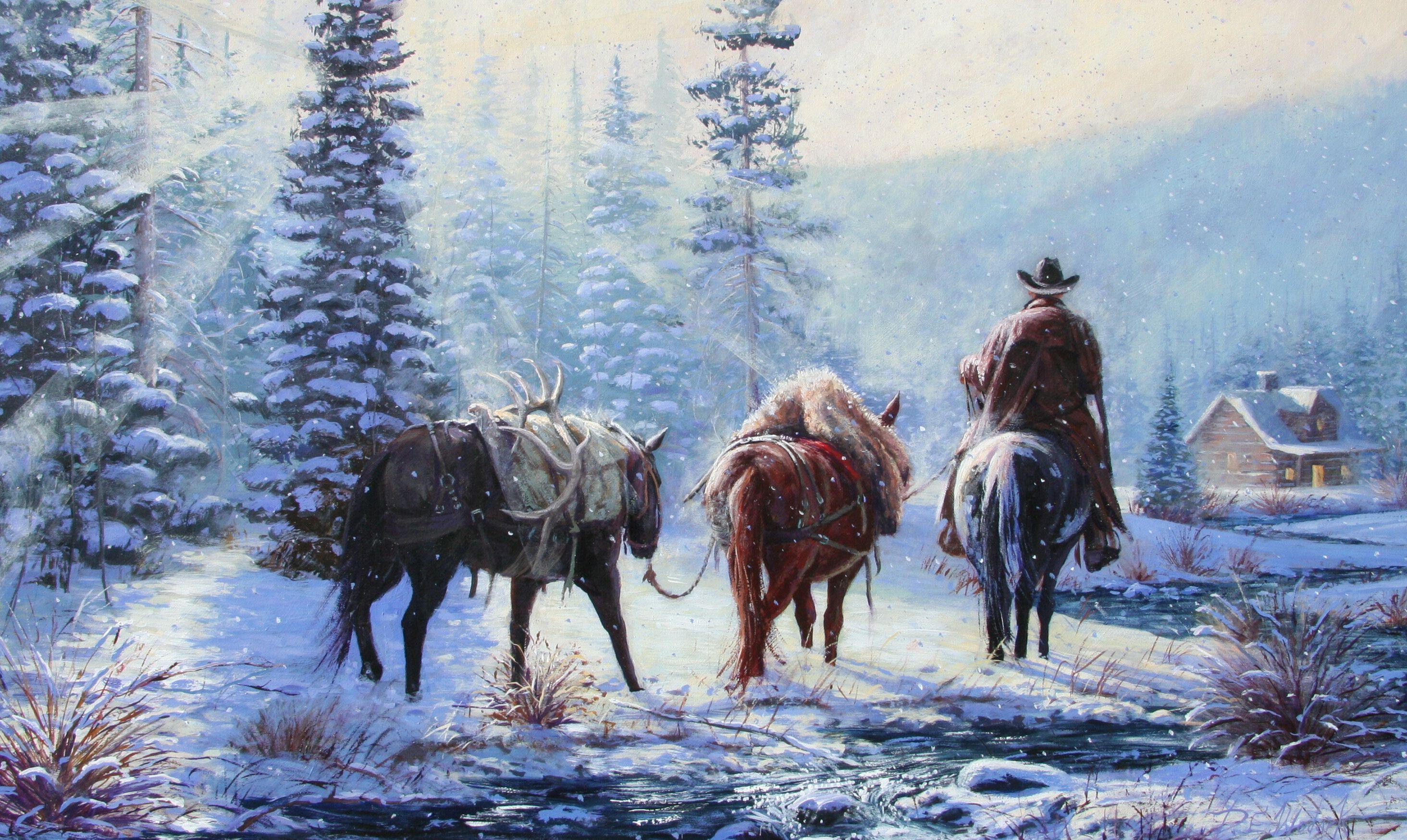 Western Christmas Background Wallpaper Cowboy Christmas Western Christmas Christmas Wallpaper Backgrounds