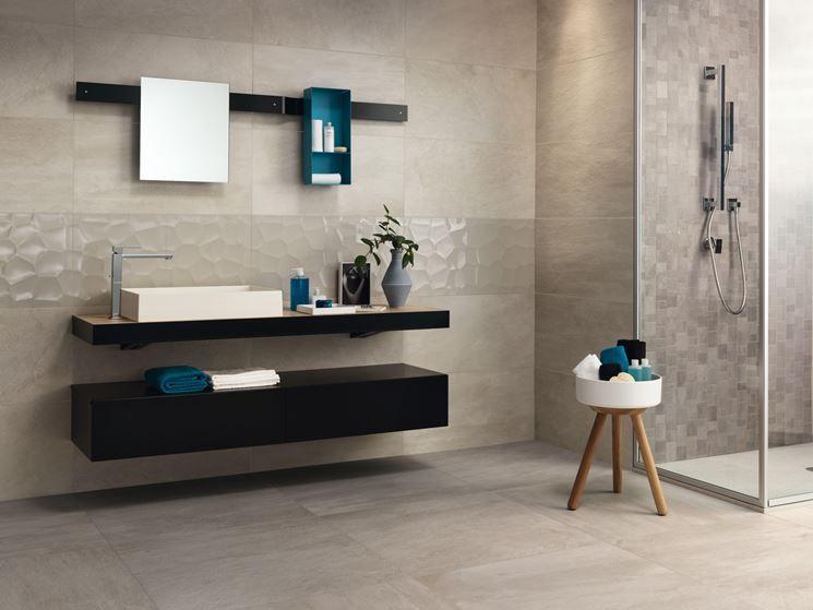 Pavimento grigio perla bagni nel tiles