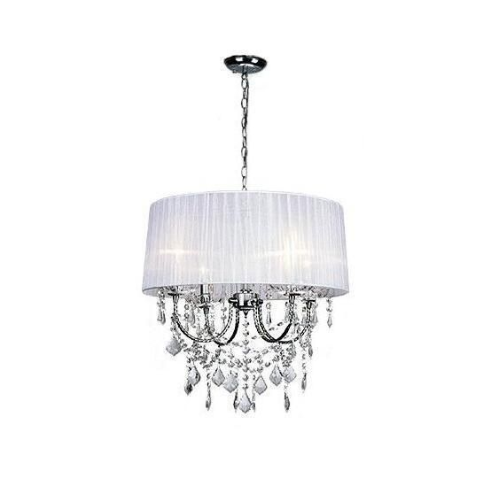 Buy modern crystal chandeliers lightround lampshade fabric lamp modern crystal chandeliers lightround lampshade fabric lamp shade luminaire chandelier lampcl01 mozeypictures Choice Image