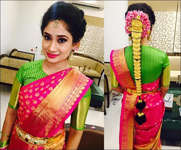 South Indian Hairstyles For Wedding: South Indian Bridal Front Hairstyles #SouthIndian