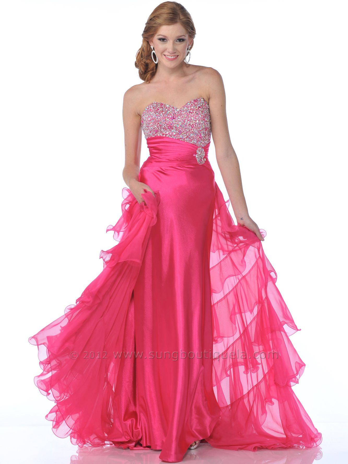 Hot pink homecoming dress  prom dresses  Hot Pink Prom Dresses  Prom Dress Prom Dress