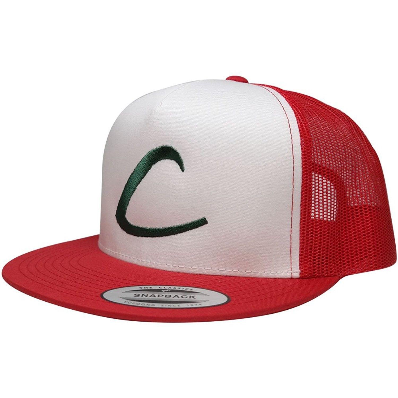 FLEXFIT Pokemon Trainer Ash Ketchum Embroidered Classic Trucker Mesh Snapback  Cap - Red White - CJ12KIIGLI5 - Hats   Caps e9ff38eceb61