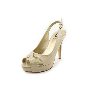 ce00b7bf9 I just added this to my closet on Poshmark  Guess GGCathy Stiletto Heel  Slingback Platform 8.5. Price   17 Size  8.5