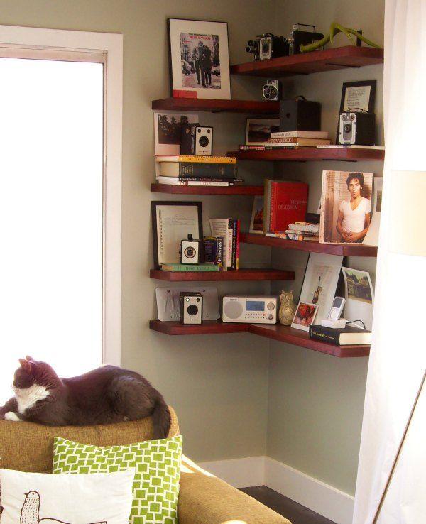 70 Smart Diy Corner Shelves Ideas To Decorating Your Awkward Corner Corner Shelves Living Room Corner Decor Corner Shelf Ideas