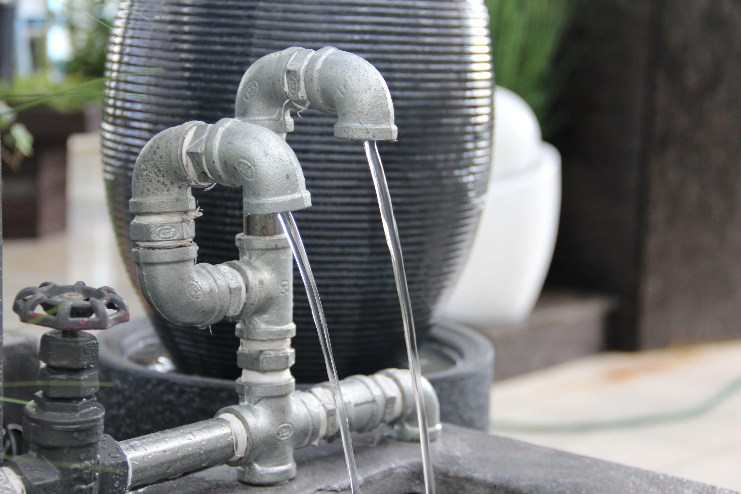 Elegant Cooler Brunnen Für Innen Und Außen Mit Angesagtem Industrie Look.
