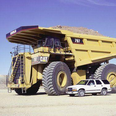 Mine Truck Size Comparison The Caterpillar 797b Is An