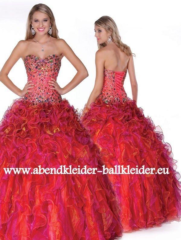 Rotes Abendkleid Ballkleid Online Kaufen | Rote Kleider online ...
