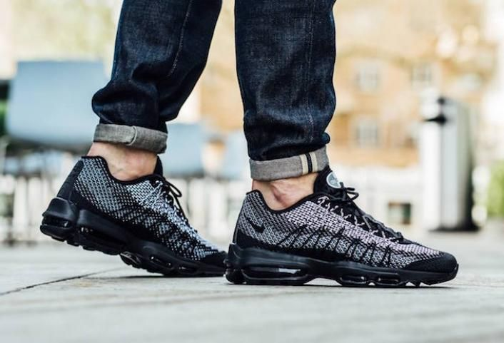 An On Feet Look At The Nike Air Max 95 Ultra Jacquard Black Nike