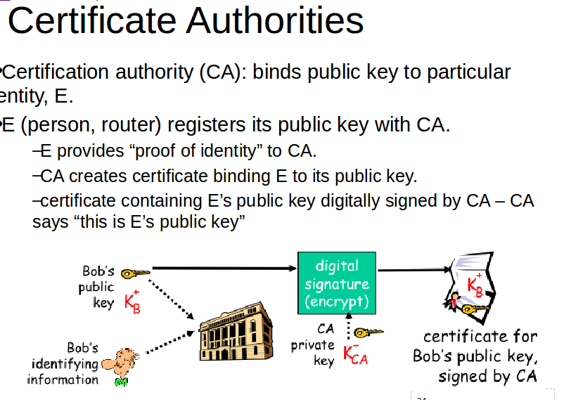 What is the role of certificate authority | Network Security Notes ...