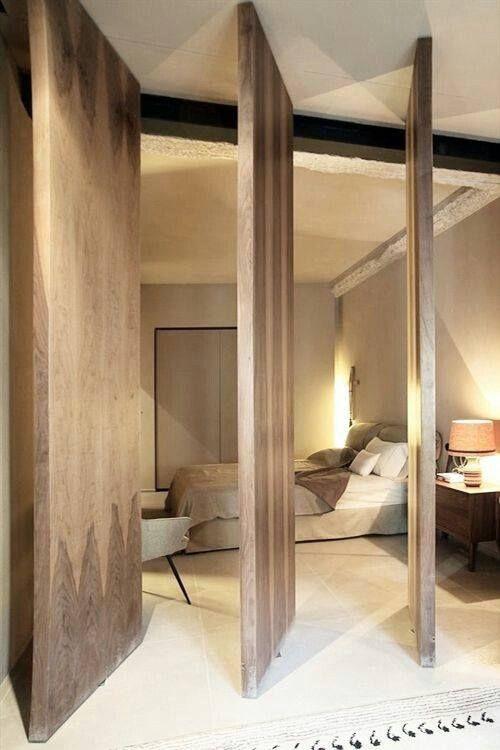 Puertas de madera corredizas para separar ambientes 1 - Separation entre deux pieces ...