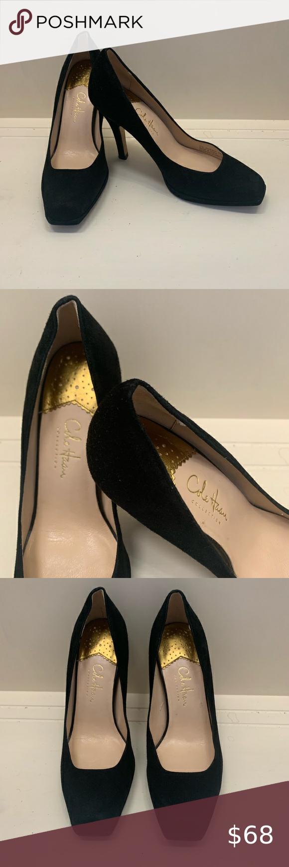 Cole Haan suede heels 6 in 2020 | Suede