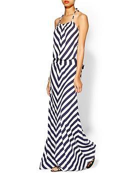 121e66e1b60 Michael Stars Exclusive Stripe Halter Maxi Dress