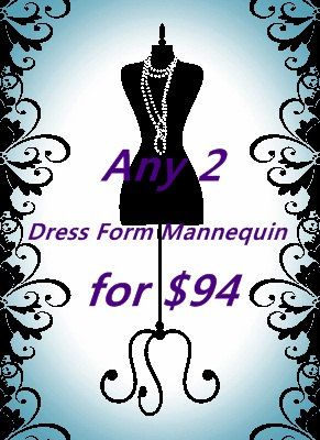 Super discounts Two  Dress Form Mannequin by lin168 on Etsy, $94.00