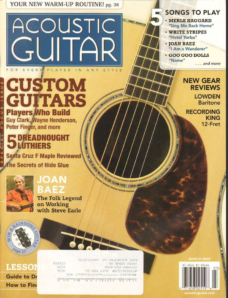 2009 March Acoustic Guitar Magazine Back Issue Acoustic Guitar Magazine Guitar Magazine Guitar