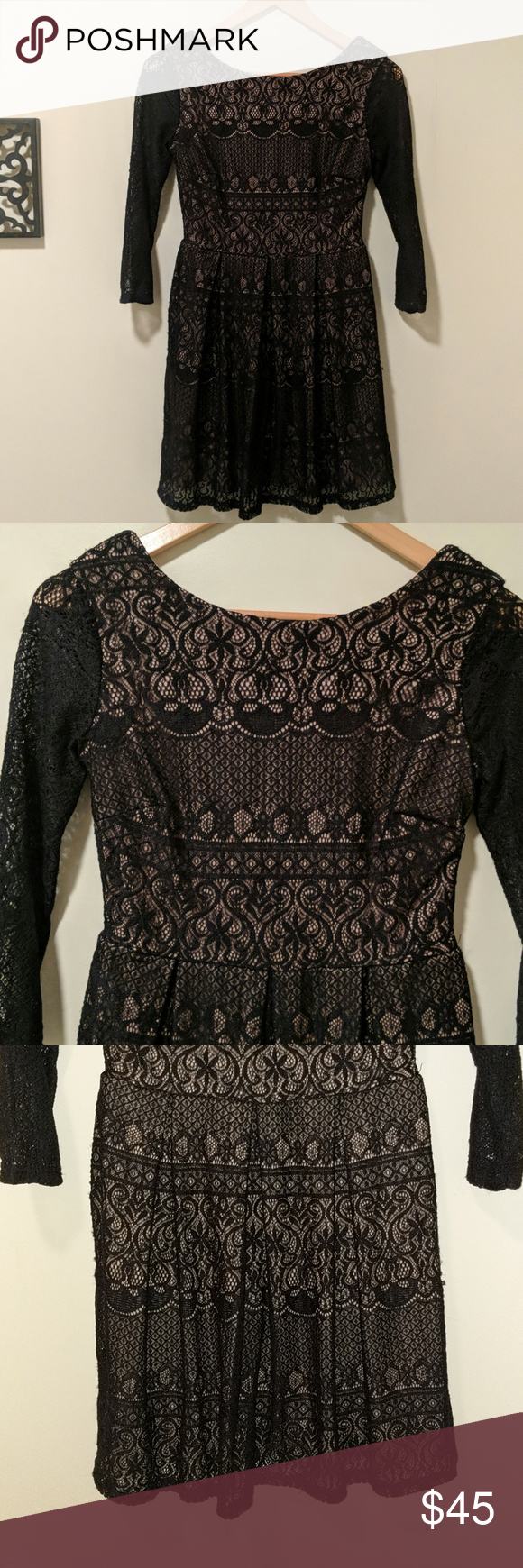 B darlin black lace dress  B darlin dress  My Posh Picks  Pinterest  Taupe colour Taupe and Fe