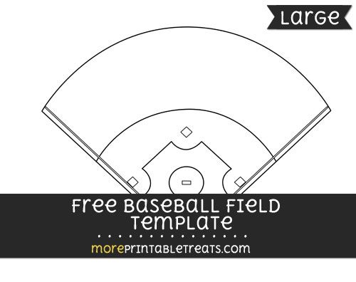 Free Baseball Field Template - Large Shapes and Templates